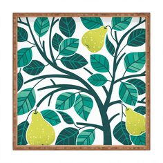 Pear Tree Square Tray Lucie Rice