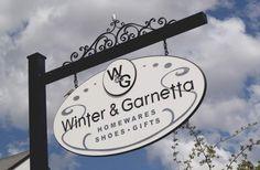 Winter and Garnetta Retail Sign | Danthonia Designs