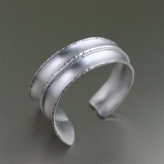 Brushed Anticlastic Fold Formed Aluminum Cuff - johnsbrana - 1