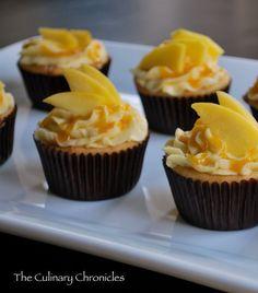 """Mango-licious"" Mango Cupcakes by The Culinary Chronicles Mango Cupcakes, Mango Cake, Cheesecake Cupcakes, Cupcake Recipes, Cupcake Cakes, Dessert Recipes, Cup Cakes, Cupcake Piping, Cupcake Ideas"