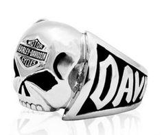 anium Iron Cross Side Harley Motorcycle Icon Gemstone Ring ...