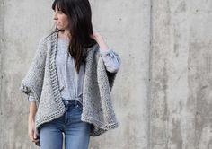 Telluride Easy Knit Kimono Pattern – Mama In A Stitch Kimono Pattern Free, Shrug Knitting Pattern, Beginner Knitting Patterns, Knit Cardigan Pattern, Sweater Knitting Patterns, Knitting For Beginners, Knitting Stitches, Knit Patterns, Free Knitting