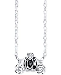 Disney Cinderella Carriage Pendant Necklace in Sterling Silver