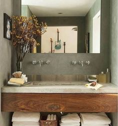 The Best Rustic Small Bathroom Ideas With Wooden Decor 26 28 Rustic Bathroom Ideas Making Impact to Atmosphere Rustic Bathroom Vanities, Bathroom Sink Vanity, Rustic Bathrooms, Wood Bathroom, Bathroom Furniture, Modern Bathroom, Master Bathroom, Bathroom Ideas, Bathroom Small