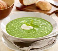 avocado, pea & zucchinni soup