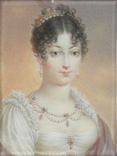 Maria Luise Leopoldina Franziska Therese Josepha Lucia of Austria (1791-1847), daughter of Franz II of Austria and his wife Maria Teresa of Naples and Sicily. She was married first to Napoleon Bonaparte, second to Adam Albert of Neipperg and third to Charles de Bombelles. She had 4 children.