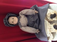 Pretty old country doll with composition hands and shoes and waxed head.