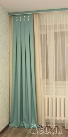 Window decoration with textiles: custom sizes- Оформление окон текстилем: нестандартные р… Window decoration with textiles: custom solutions that make the decor special - Hanging Curtains, Curtains With Blinds, Drapes Curtains, Valances, Curtain Patterns, Curtain Designs, Window Coverings, Window Treatments, Rideaux Design