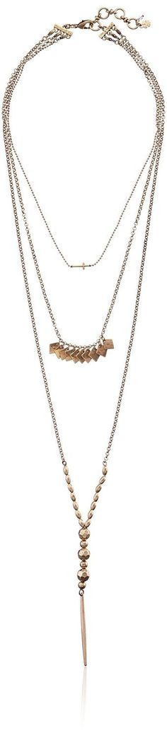 Pin for Later: 29 Fashion Gifts From Amazon Prime That'll Get to Your Doorstep Freakishly Fast  Lucky Brand Cross Triple Layer Necklace ($49)