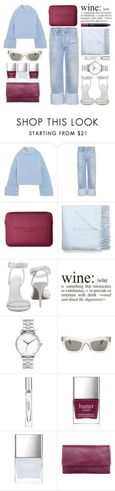 """Wine or leave me alone"" by miss-magali-mnms ❤ liked on Polyvore featuring Jil Sander, Citizens of Humanity, Marc Jacobs, Acne Studios, NARS Cosmetics, Alexander Wang, WALL, Nixon, CÉLINE and Marchesa"