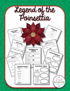 LEGEND OF THE POINSETTIA BY TOMIE DePAOLA - Book Study and The Legend of the Poinsettia is a sweet holiday legend, retold by Tomie dePaulo. It's is a great book to read in teaching legends. And, students can learn about the Mexican culture. Story Sequencing, Sequencing Activities, Vocabulary Activities, Classroom Activities, Tomie Depaola Books, Legend Of The Poinsettia, Mexico Christmas, Christmas Deals, Christmas 2015