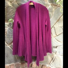 Open Cashmere Cardigan *Wine* Super soft and comfortable, no flaws. Live-in type of sweater. I love this sweater but purple is a color I just feel a little weird having on my body if you know what I mean. Charter Club Sweaters Cardigans