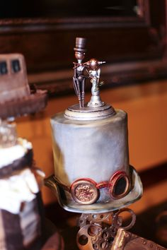 A steampunk soiree with an amazingly detailed cake