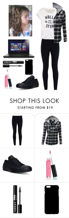 """My Outfit Today 3/6/16"" by itskennab ❤ liked on Polyvore featuring NIKE, Hollister Co., Converse, Laura Geller and LORAC"