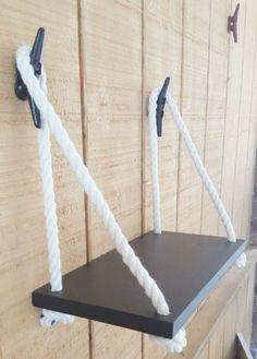 "15 ""Swing Rope Shelf / Nautical Nursery / Nautical Organization / Beach house Decor / Cottage Decor - Home Decor"