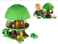 The Tree Tots are another very collectible line of toys from the made by Kenner. The most famous and recognized is the Family Tree House set, which has a large green tree that pops up and down, along with a family and their furniture. 1970s Toys, Retro Toys, Vintage Toys, My Childhood Memories, Childhood Toys, Sweet Memories, Toys R Us, 80s Kids, Oldies But Goodies