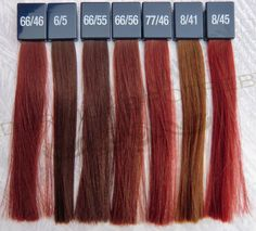 Wella Koleston Vibrant Reds colorchart 3