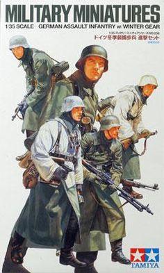 1/35 German Assault Infantry w/Winter Gear (tam35256) Tamiya Plastic Model Military Figures