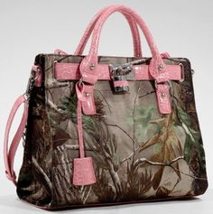 Realtree® Camouflage Satchel with Lock and Tassel handbags Coach Purses, Coach Bags, Real Tree Camouflage, Pink Camouflage, Camo Purse, Camo Shoes, Purses And Handbags, Coach Handbags, Fashion Handbags