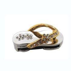 Pendrive Personalizado joia - Chinelo com pedras brilhantes R$54.90