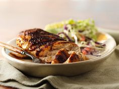 All-American BBQ Rubbed Chicken    I use a recipe similar to this.  I have bought the McCormicks BBQ seasoning and used that with the brown sugar.  It's amazing.  No sauce needed.