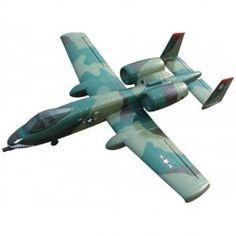 Avión radio control del fabricante Dynam para pilotos avanzados. El A-10 Thunderbolt es una fiel reproducción en versión P.N.P. con motors y variador brushless y servos Detrum montados. COLOR CAMUFLAJE ...