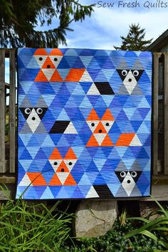 Sew Fresh Quilts: Fox & Friends {redo} Friday Finish This is so adorable. Love it.