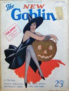 1929 the new goblin- http://vintagehalloweentreats.tumblr.com/post/11280903470/vintagemarlene-1929-the-new-goblin
