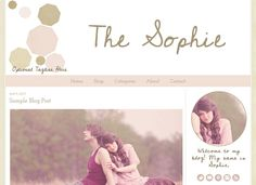 Premade Blogger Template  The Sophie by ElloThemes on Etsy, $35.00