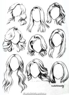 Learn To Draw A Realistic Rose Straight hair & wavy hair drawing examples for fashion sketching beginners. Pencil Art Drawings, Art Drawings Sketches, Animal Drawings, Drawings Of Hair, Pencil Drawings For Beginners, Pencil Drawing Tutorials, Drawing Animals, Drawing Techniques, Drawing Tips