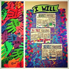 Art room rules with student signatures social contract!