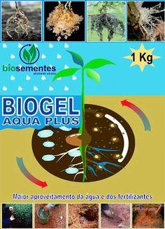 O Biogel Aqua Plus é um polímero hidro-absorvente com alta capacidade de retenção de água, podendo reter centenas de vezes seu próprio peso, disponibilizando conforme a necessidade das plantas.