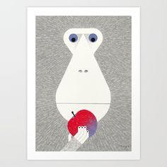 Monkey Art Print by Ryo Takemasa.