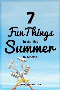 Tired of sitting around at home for the summer? Here are 7 fun events to attend this summer. Good for the whole family!