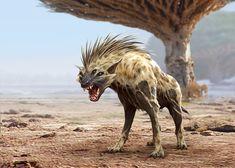 ArtStation - Creature Concept for Africa Fantasy World, Evozon Game Studio Fantasy World, Dark Fantasy, Fantasy Art, Alien Creatures, Mythical Creatures, Creature Feature, Creature Design, Monsters Rpg, Alien Design