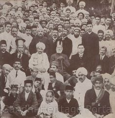 At a civic reception during his first visit to Karachi in 1916.