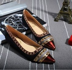 Rivets Decoration Brand Shoes Flats Women Spring Autumn Fashion Womens  Flats Boat Shoes Sexy Ladies Plus Size 11 Free Shipping 5912d3b5c91e