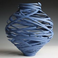 I adore this contemporary Ceramic vessel called 'Vortex' ~ by Michael Eden