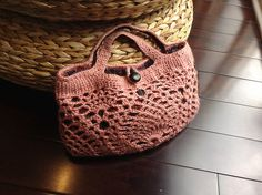 Ravelry: Cocolicious' Pineapple motif bag