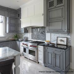 Designer William McDonald chose grays and whites because the colors are easy and practical but also stylish and classic.