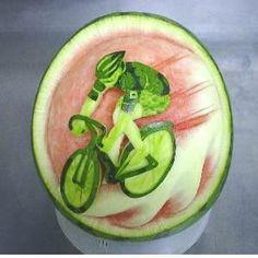 Watermelon Carving #bike #bicycle #BikeArt