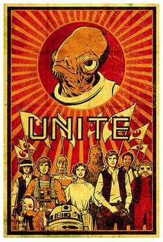 Star Wars Propaganda Poster For the Rebel Alliance
