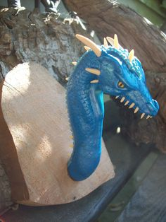 Blue Sea Dragon Throphy Draco Oceanus by DragonDepartmentCGM, $65.00
