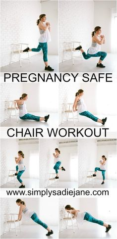 This pregnancy safe workout at home could be just what you& looking for. Exercise during pregnancy is so important! Prenatal Workout, Pregnancy Workout, Pregnancy Tips, Pregnancy Fitness, Early Pregnancy, Pregnancy Style, Pregnancy Belly, Pregnancy Fashion, Pregnancy Outfits