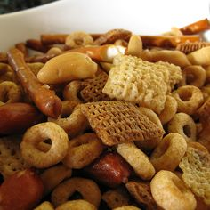 Classic DIY Chex Mix   I guess I'll give in and make these for Christmas :) Dave will be happy!