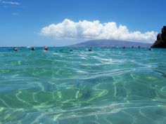 Clear blue water near Black Rock on Kaanapali beach.