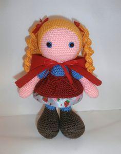 caperucita roja a crochet
