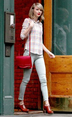 Mad for Plaid from Taylor Swift's Street Style | E! Online