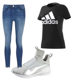 """""""Untitled #12"""" by robynique-patton on Polyvore featuring Puma, adidas and 3x1"""