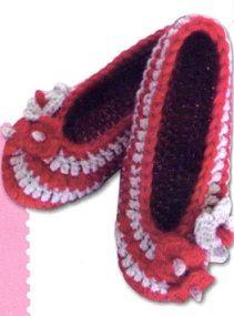 Crochet Knitting Handicraft: Crochet slippers